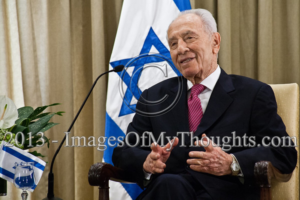 President of the State of Israel, Shimon Peres, at an introductory meeting with Jaideep Sarkar, newly appointed Indian Ambassador to Israel. Jerusalem, Israel. 4-Dec-2012.<br /> <br /> Jaideep Sarkar, newly appointed Indian Ambassador to Israel, presents his Letter of Credence to the President of the State of Israel, Shimon Peres, in a formal ceremony at the President's Residence.