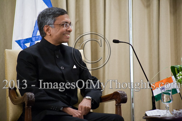 Jaideep Sarkar, newly appointed Indian Ambassador to Israel, at an introductory meeting with the President of the State of Israel, Shimon Peres. Jerusalem, Israel. 4-Dec-2012.<br /> <br /> Jaideep Sarkar, newly appointed Indian Ambassador to Israel, presents his Letter of Credence to the President of the State of Israel, Shimon Peres, in a formal ceremony at the President's Residence.