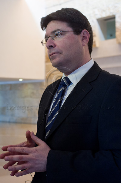 """MK Ofir Akunis (Likud-Betenu Party), prior to hearing of Zuabi's appeal at High Court of Justice: """"This is a real test of Israel's democracy capabilities of defending itself against those who abuse it to destroy it"""". Jerusalem, Israel. 27-Dec-2012.<br /> <br /> Arab MK Ms. Hanin Zuabi (Balad party) appeals election disqualification by Knesset Central Elections Committee before High Court of Justice before an extended panel of nine judges headed by Supreme Court President Asher Grunis."""