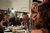 Mascara is applied to the eyes of Israeli Opera Carmen performer backstage before full dress rehearsal. Massada, Israel. 6-June-2012.
