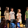 Chadron fourth-graders recite their parts during the Martin Luther King Jr. Day celebration on Jan. 21. (Photo by Justin Haag)