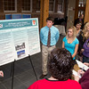 """Chadron State College students Teighlor Westemeier, Justine Ackie, Daniel O'Boyle and Hallie Laufenberg present their research for """"A Pox on You:  The Biological, Legal, and Social Consequences of Infectious Diseases"""" on Dec. 4 in the Sandoz Center. The course, which is taught by CSC faculty members Lisette Leesch and Ann Buchman, challenged students to make preparations for a community health crisis. The course is one of CSC's new First-Year Inquiry offerings, which take a cross-discipline approach to engage students. (Photo by Justin Haag)"""