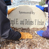 Landscaping areas around campus are available to be named in honor or memory of a family member or loved one. Virgil and Delores Irelan, Sterling, Colo., have contributed support for the planting area east of Old Admin where Delores worked for four CSC presidents. (Photo by Tena L. Cook)