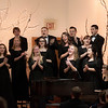 Members of the CSC's Concert Choir sing Hallelujah during the concert at the Chadron Arts Center on Dec. 7.  (Miranda Wieczorek/ Chadron State College)