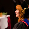 Dr. Katherine Bahr prior to delivering the message to the graduating class for Chadron State College graduates receiving a master's degrees Dec. 13. (Photo by Tiffany Valandra)
