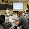 Lucia Corral, University of Nebraska-Lincoln Ph.D. candidate in Wildlife Ecology, speaks to Chadron State College students about the methodology and protocol for setting up cameras and lures for the swift fox study.