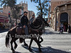 Jerusalem Police horsemen patrol the city center along the tram line 24-hours ahead of Israel's national elections. Jerusalem, Israel. 21-Jan-2013.<br /> <br /> Israel Police is on alert ahead of elections to take place January 22. Twenty thousand officers, volunteers, security personal and ushers will be deployed on Election Day in 10,128 ballot locations securing the vote for 5,660,000 eligible voters.