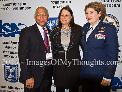 Ms. Rona Ramon, widow of Columbia STS-107 astronaut, Ilan Ramon, poses for a photo between Charles Bolden, NASA Administrator and Lieut. Gen. Susan Helms, former NASA astronaut. Hertzeliya, Israel. 29-Jan-2013.  Eighth Annual Ilan Ramon International Space Conference convenes commemorating a decade to Columbia Mission STS-107 with senior representatives of 14 space agencies including NASA Administrator and astronauts from the US, Japan, Russia and Kazakhstan.