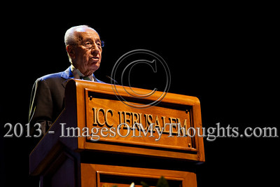 Israeli President Shimon Peres formally opens the Jerusalem International Book Fair reading a passage from a book by acclaimed Spanish writer Antonio Munoz Molina, Jerusalem Prize Laureate. Jerusalem, Israel. 10-Feb-2013.  First held in 1963, the Jerusalem International Book Fair is a unique biennial event, business fair and a prestigious and important cultural event. 600 publishers and authors from more than 30 countries display more than 100,000 books.