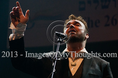 David D'Or, Israeli singer, composer, and songwriter, a countertenor with a vocal range of more than four octaves, performs at the opening ceremony of the Jerusalem International Book Fair. Jerusalem, Israel. 10-Feb-2013.  First held in 1963, the Jerusalem International Book Fair is a unique biennial event, business fair and a prestigious and important cultural event. 600 publishers and authors from more than 30 countries display more than 100,000 books.