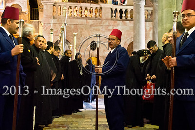 Palm Sunday procession at the Church of The Holy Sepulchre