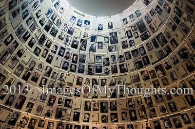 Pages of Testimony displayed on the cone-shaped ceiling of the Hall of Names at Yad Vashem Holocaust Museum. Jerusalem, Israel. 26-Feb-2013.  The Minister of External Affairs of Sri Lanka, Prof. G.L. Peiris, visits Yad Vashem Holocaust Museum. The Minister toured the museum, participated in a memorial ceremony and signed the museum guest book.