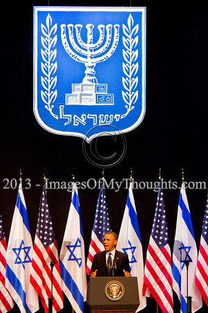 President Obama addresses young Israeli students in Jerusalem