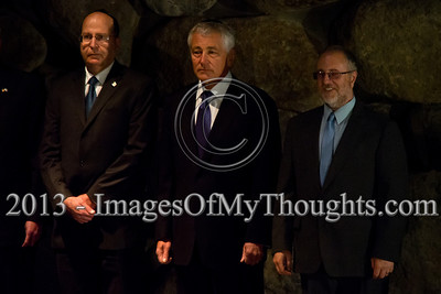 US Defense Secretary Chuck Hagel visits Yad Vashem Holocaust Museum
