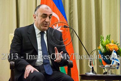 Israeli Pres. Peres hosts Azerbaijan FM Elmar Mammadyarov