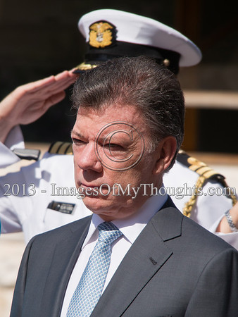 President of Colombia Welcomed in Israel