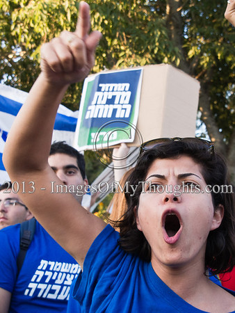 Anti-budget Protest at Israeli Knesset
