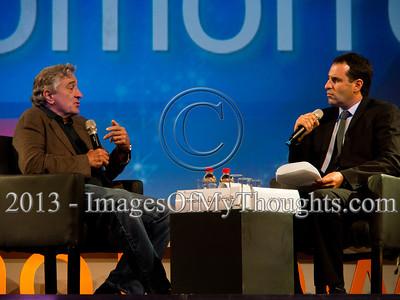 Sharon Stone, Robert De Niro and others, interviewed in Jerusalem