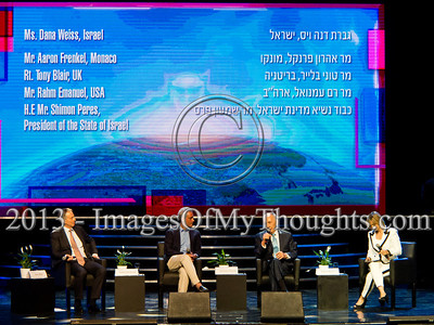 Peres, Blair and Emanuel at Israeli Presidential Conference