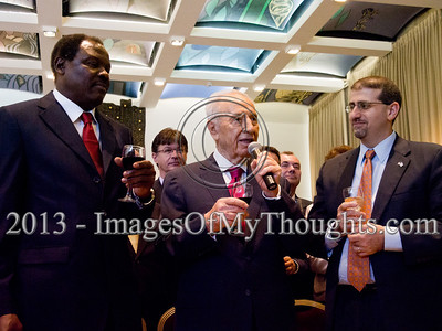 Peres Hosts a Reception for Foreign Ambassadors in Jerusalem