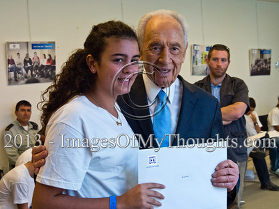 IDF Orphans Celebrate Bar-Mitzvahs with Israeli President