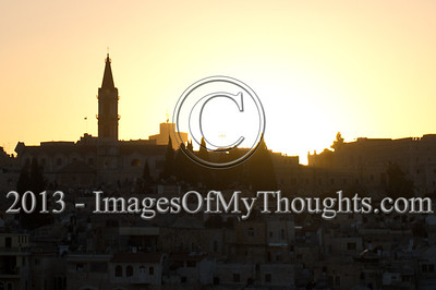 In Pictures: Dusk Sets Over Jerusalem's Old City