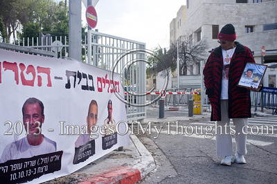 Protest in Jerusalem against Palestinian Prisoners' Release