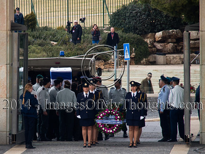 Former PM Ariel Sharon's Coffin Arrives at the Knesset
