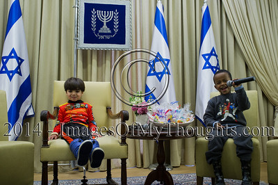 Israeli President Hosts a Purim Party