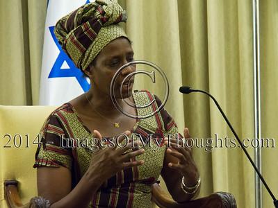 Peres Hosts Rose Mapendo in Jerusalem