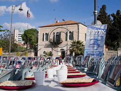 Passover Seder Protest against Kerry in Jerusalem