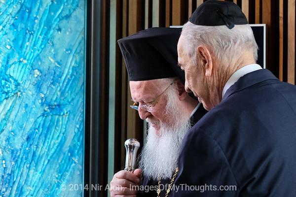Pres. Peres Hosts Patriarch Bartholomew I in Jerusalem