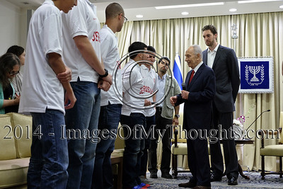 Israeli President Meets Lakers' Gasol