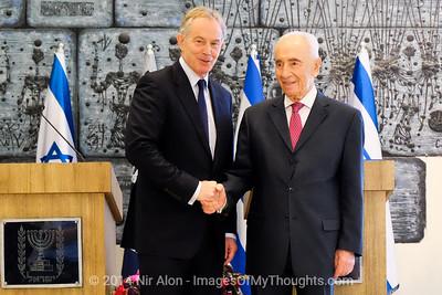 Peres Meets Blair in Jerusalem