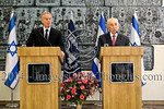 Peres Meets Blair in Jerusalem