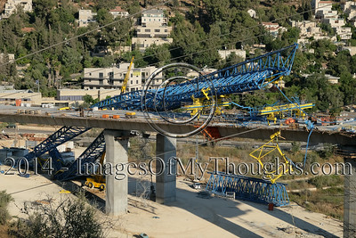 Construction Crane Collapse near Jerusalem