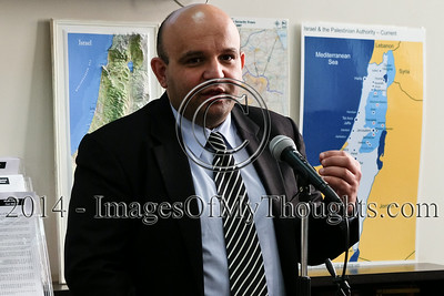 Palestinian Analyst Zahran Press Briefing in Jerusalem