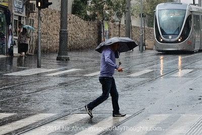 Israel: First Seasonal Rainfall in Jerusalem
