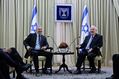 Blair on Official Visit to Israel