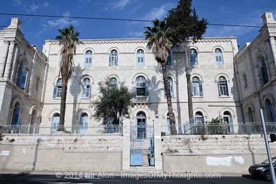 The Saint Louis Hospital Francais on Hatsanhanim Road adjacent to Jerusalem's Old City.