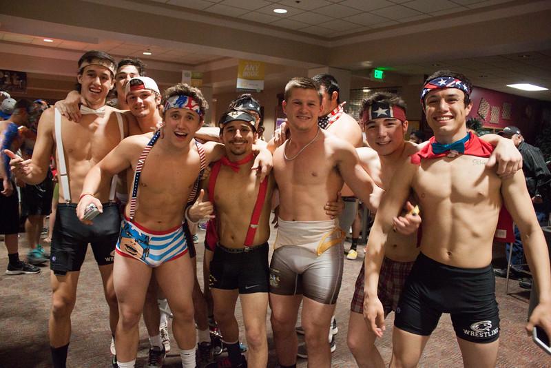 Students naked run