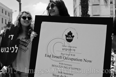 Women in Black Protest Occupation in Jerusalem, Israel
