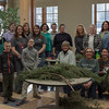 Participants in the annual greenery workshop hosted by the Chadron State College Campus Arboretum Volunteers in the Mari Sandoz Chicoine Atrium.  (Photo by Conor Casey/CSC)