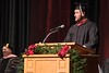 Austen Stephens offers the closing moment of reflection at the Chadron State College graduate commencement in Memorial Hall Friday, Dec. 16, 2016. (Photo by Tena L. Cook/Chadron State College)