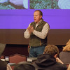 Allen Williams, founding partner and President of GFI, LLC, speaks to the attendees of the Nebraska Grazing Lands Coalition in the Chadron State College Student Center Ballroom, Nov. 17 2016. (Photo by Conor Casey/CSC)