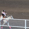 Lady in Waiting Miss Rodeo Nebraska 2017 Laramie Schlichtemeier riding in the Fourth of July rodeo in Crawford. (Photo by Con Marshall)