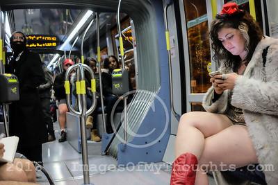 No Pants Subway Ride 2016 in Jerusalem, Israel