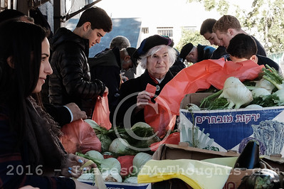Food Distribution for Terror Victims in Jerusalem, Israel