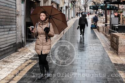 Winter Rain in Jerusalem, Israel