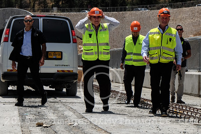 President Visits Jerusalem Fast Rail Construction